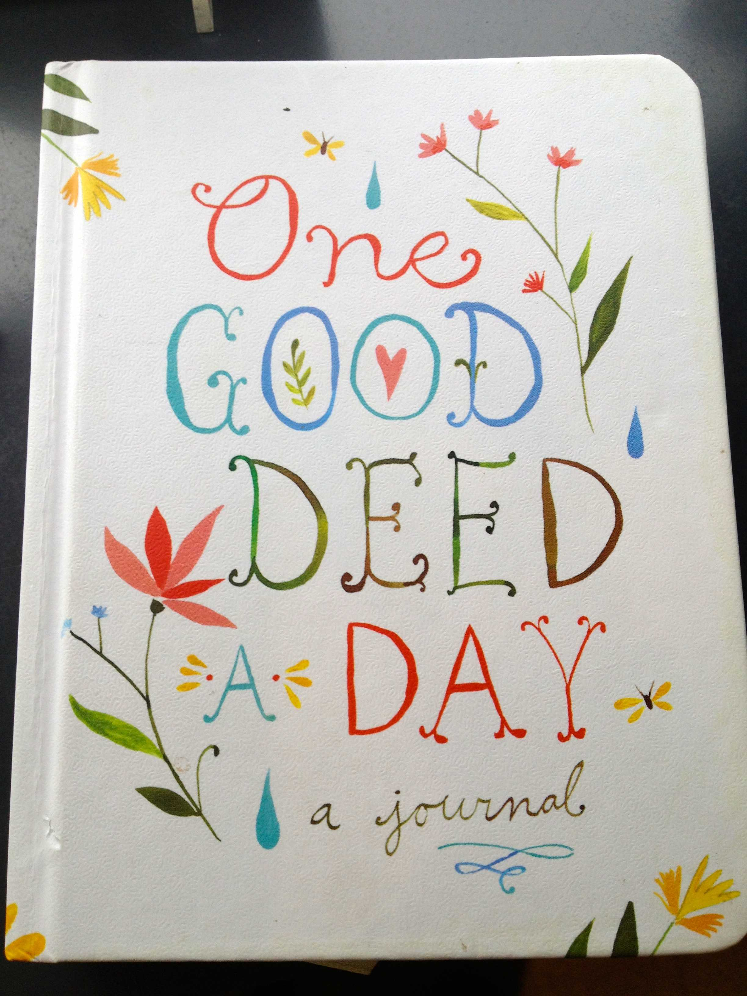 Open Book: One Good Deed a Day   Oranges and Avocados