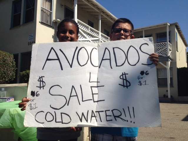 Kids' Avocado Stand, Santa Monica, CA
