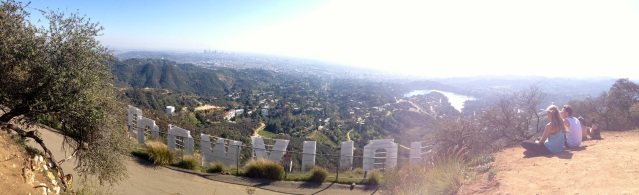 View from behind the Hollywood sign, reached by Hollyridge Trail.