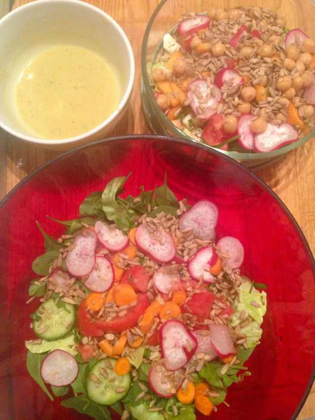 make two salads