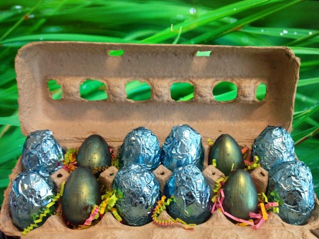 Hand-made creme eggs from Secret Marmalade.